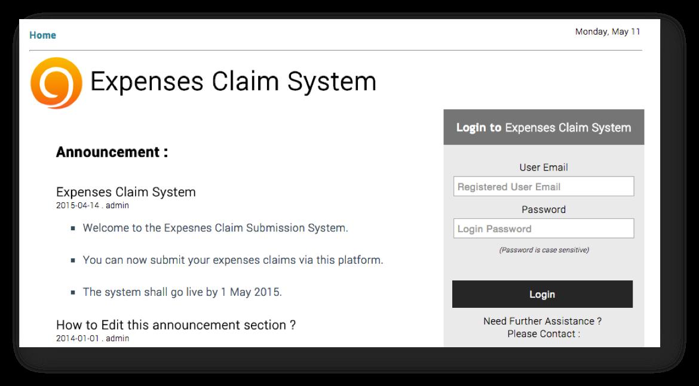 expenses online